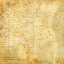 Background With The Old Map Of...