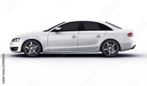 Fototapeta White car in studio obraz