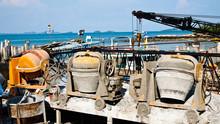 The Old Cement Mixer Machine In The Samet Island,Thailand