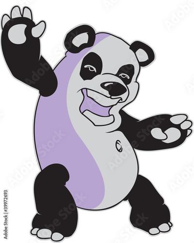 Canvas Prints Baby room Panda