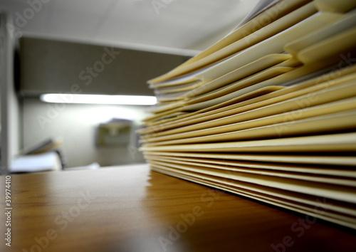 Fotografie, Obraz  File Folders on Shelf or Desk