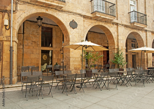 Restaurant in the square in Spain #39977614