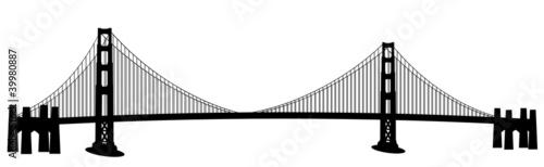 Cuadros en Lienzo San Francisco Golden Gate Bridge Clip Art
