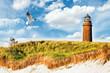 Leinwandbild Motiv Leuchtturm Prerow