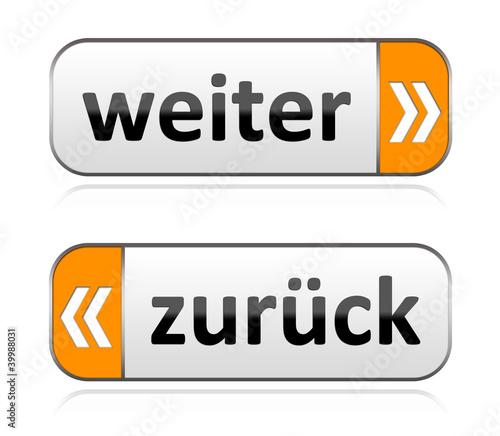 Fotografie, Obraz Weiter & zurück Buttons