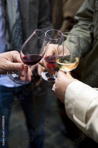 Fotografía  Vin, dégustation, œnologie, amis, boire, boisson, verre