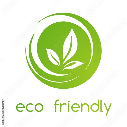 Fotografie, Obraz  leaves ,Green Eco friendly business logo design