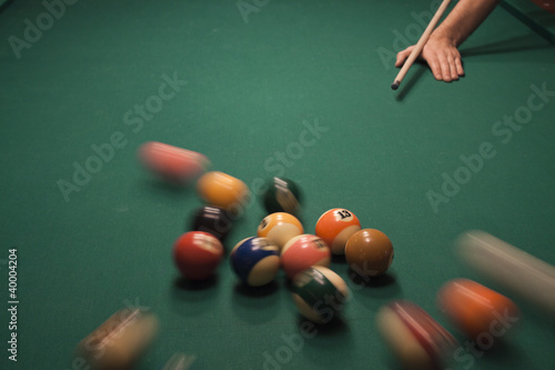 Fotografie, Tablou  Pool (billiard) game
