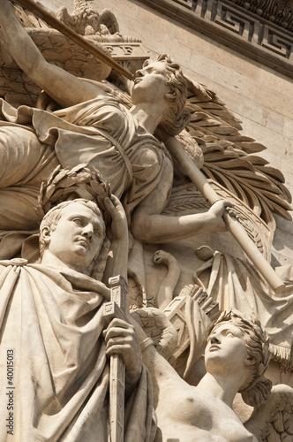 Fotografia  détail arc de triomphe,  triomphe de 1810