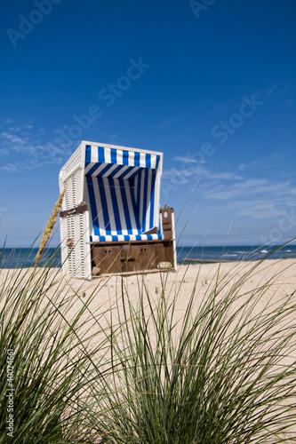 Foto-Leinwand - Nordsee Strandkorb