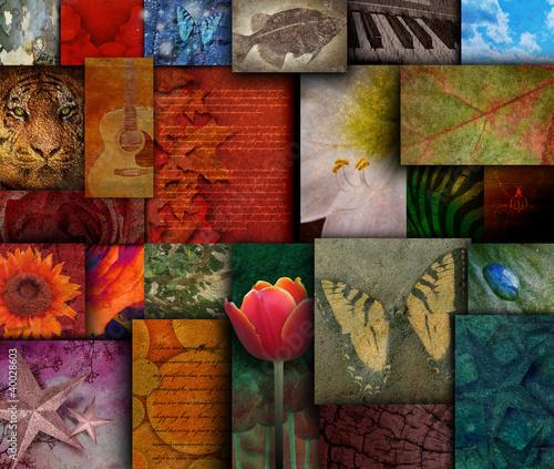 Obraz w ramie Mosaic Earth Tone Nature Rough Patterns