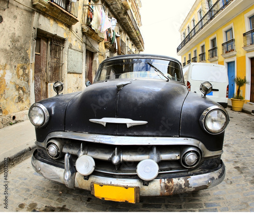 Foto op Canvas Cubaanse oldtimers Classic old car