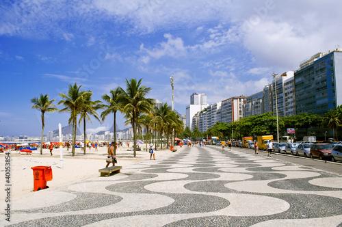 Foto-Leinwand - view of Copacabana beach. Rio de Janeiro