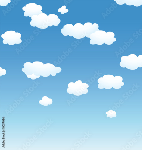 Poster Ciel vector background with clouds in the sky