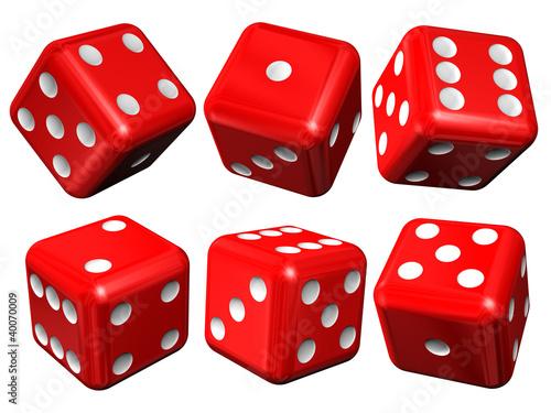 Photo  Set of red casino craps