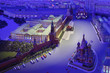 Leinwanddruck Bild - Model Moscow is capital of USSR - night Red Square