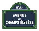Plaque Avenue des Champs Élysées