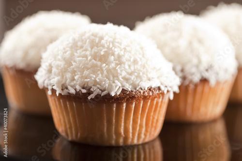 Photo  Coconut cupcake