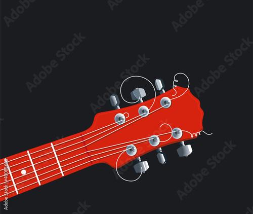 czerwona-szyjka-gitary