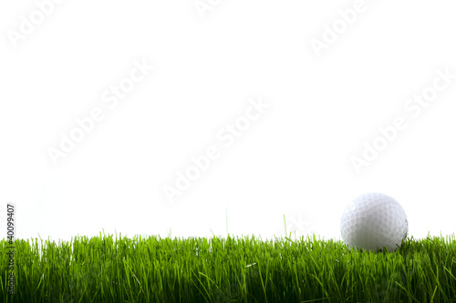 Acrylic Prints Golf Golf ball on green grass