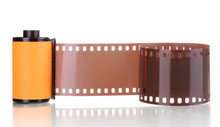 New Photo Film In Cartridge Isolated On White