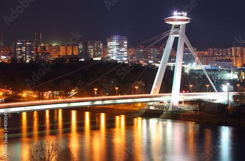 Poster UFO Novy bridge in Bratislava - Slovakia