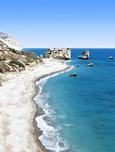 Aphrodite's Rock And Beach In Cyprus
