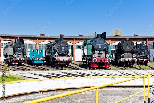 lokomotywy-parowe-w-muzeum-kolejnictwa-jaworzyna-slaska-slask