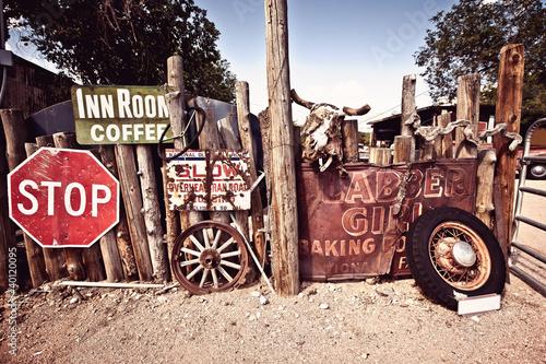 In de dag Route 66 Roure 66 artefacts