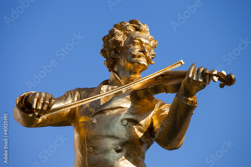 Johann Strauss Statue in Vienna Wallpaper Mural