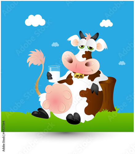 Wall Murals Ranch Dairy Cow Milk