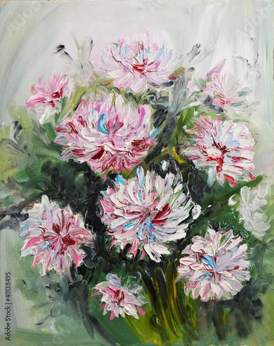 obraz-olejny-bukiet-kwiatow-piwonii