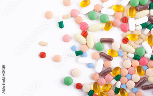 Obraz Pills, tablets and capsules - fototapety do salonu
