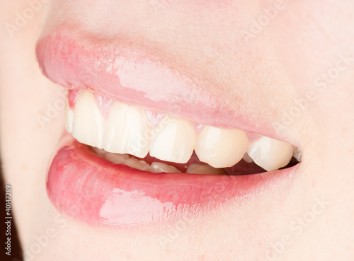 Smiling woman mouth with great teeth #40147289