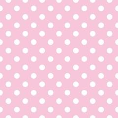 fototapeta kropki na różowym tle retro