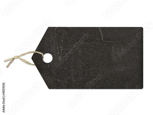 Fotografie, Obraz  Etiquette texture ardoise