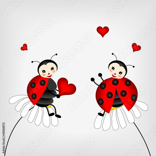Canvas Prints Ladybugs two ladybirds