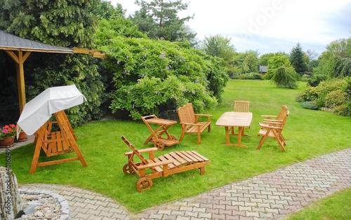 Fotobehang Tuin Garden furniture