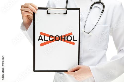Plakaty dydaktyczne lekarz-zakazujacy-alkoholu