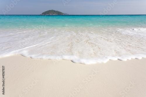 Staande foto Caraïben pure tropical beach