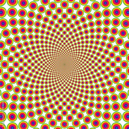 Wall Murals Psychedelic Vector cyclic optical illusion