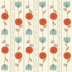 Fototapetaseamless pattern background with flowers