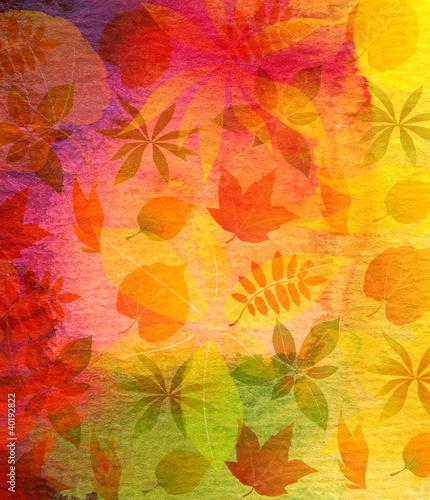 abstrakcjonistyczna-akwarela-malowal-tlo-z-lisciem