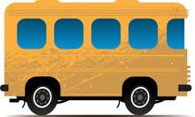 Yellow Bus, Vector Illustration