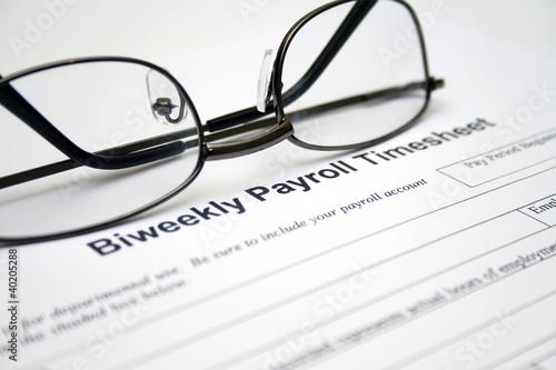 Biweekly payroll timesheet Canvas Print