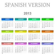 2013 Spanish Vectorial Calendar