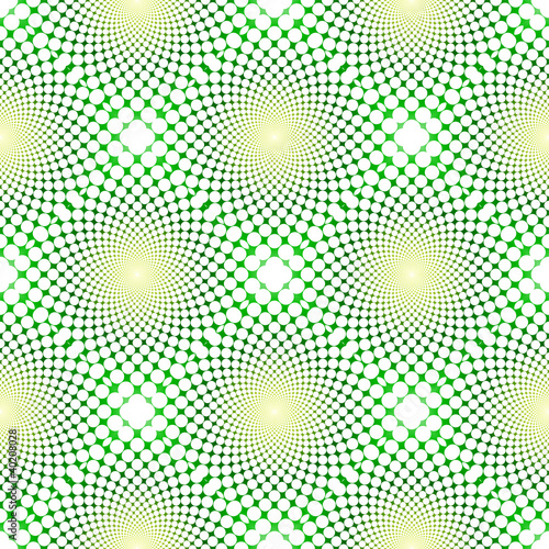 Wall Murals Psychedelic cyclic optical illusion (Vector EPS)