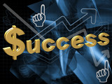 The inscription on the success of abstract background