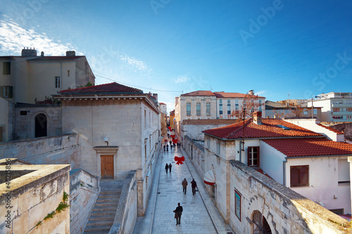 view of main street in old Zadar, Croatia