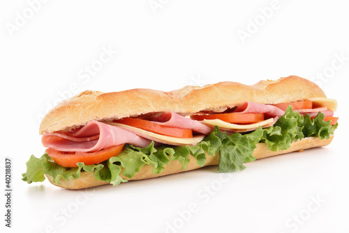 Spoed Foto op Canvas Snack isolated sandwich